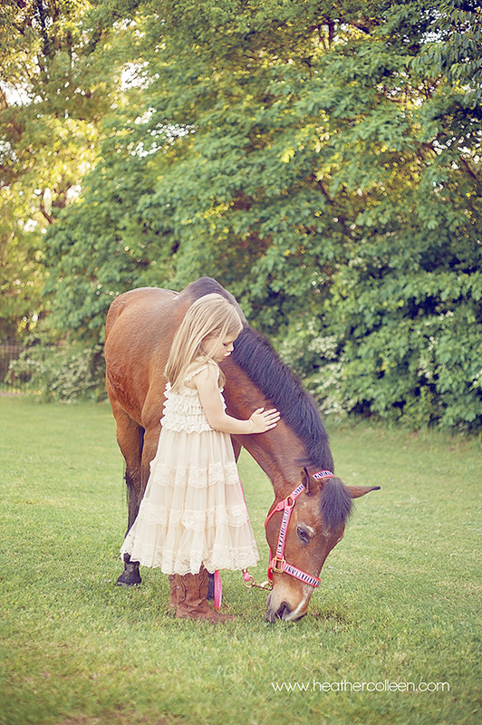 Little girl and horse photography longview tx